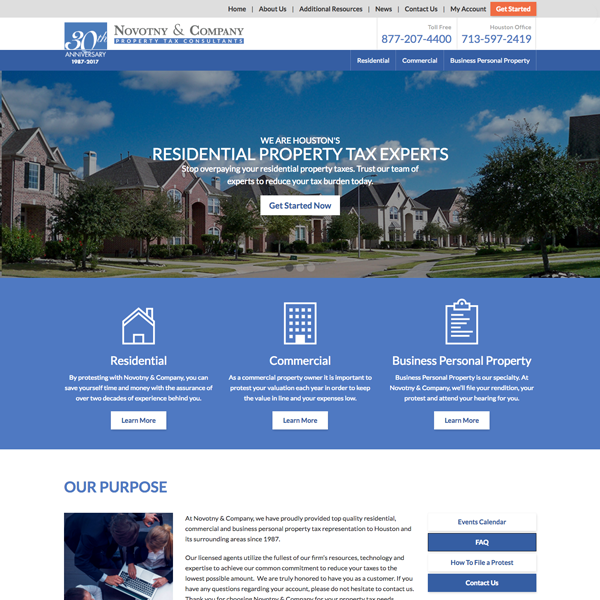 Property Tax Consultants Website